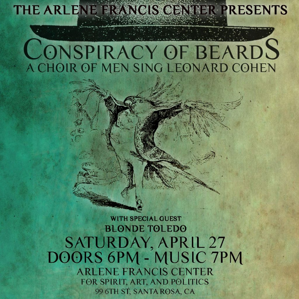 Conspiracy of Beards Santa Rosa poster 4-27-2019